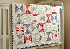 Hourglass Quilt & Patchwork Pillow for Baby (tutorial) | Project 12 Quilts