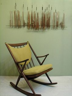 MidCentury Danish Modern Rocking Chair  1950s by dejavulongbeach, $1295.00