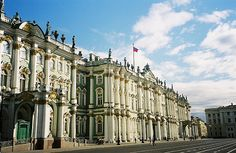 Hermitage, St Petersburg another great view of the winter palace and how the rococo was realized in russia