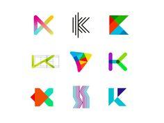 36 Days of Logos / Logo alphabet: letter K by Alex Tass, logo designer on Dribbble Letter K Design, Monogram Design, Identity Design, Logo Design, 36 Days Of Type, Abstract Logo, Letter J, Silver Spring, Infographic Templates