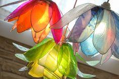 lampadario chandelier lotus flower pendenti pendant di fiorediluce