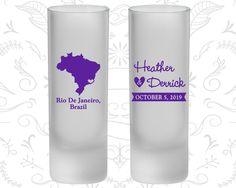 Brazil Wedding, Frosted Shooter Glass, Destination Wedding, Rio De Janeiro Wedding (164)