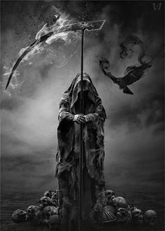 What Is Dark Fantsy Art - There are trendy dark fantasy art collection in my page for you Dark fantasy art isnt new for this century. Grim Reaper Art, Grim Reaper Tattoo, Female Grim Reaper, Don't Fear The Reaper, Gothic Poster, Fantasy Poster, Fantasy Kunst, Dark Fantasy Art, Character Art