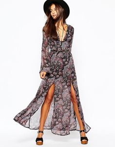 Missguided | Missguided Boho Paisley Print Maxi Dress at ASOS