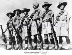 BURMESE ARMY fighting under British command in 1940  combined many native troops from India and Burma. See Description below Stock Photo