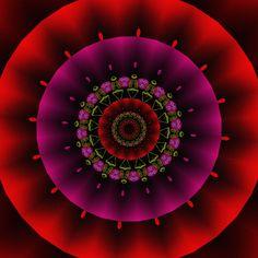 pleine lune de l'esprit ; Lua cheia da mente; full moon of the mind; Mandala de Pierre Vermersch Digital Drawings