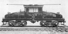 "Steeplecab: An electric locomotive with a central cab and sloping ""noses"" on each end."