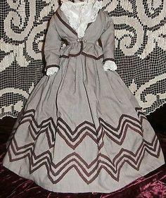 Vintage 2 Pc Cotton Lined Outfit for Large French or German Lady Doll NR | Dolls & Bears, Dolls, Clothes & Accessories | eBay!