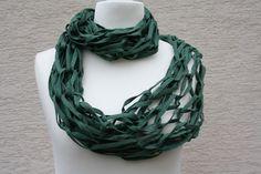 Weiteres - Loop Schlauchschal Basilico Schal Tuch grün - ein Designerstück von trixies-zauberhafte-Welten bei DaWanda