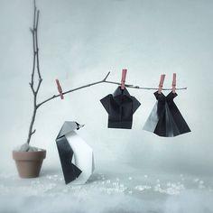 El arte japonés de plegar papel, más algunos objetos cotidianos, dan como resultado estas hermosas escenas miniatura creadas por la artista noruega Wenche Lise Fossland. Wenche Lise diseña coloridas y creativas piezas de origami entre las que se encuentran varios tipos de animales como búhos o elefantes, y también otros objetos como vestidos o paraguas. …