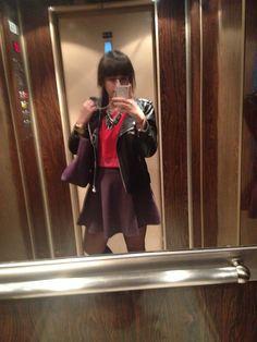 Skirt PB , crop sweater Zara ,leather jacket PB