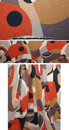 French mod print textured knit - cinnamon/dijon from EmmaOneSock.com