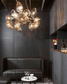 Ray Dance lighting is a sparkling vision to behold; the ultimate modern chandelier. The hand blown glass arrangement demonstrates impeccable craftsmanship and produces unique feature lighting that radiates beauty and opulence. Browse the collection online.