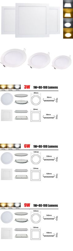 Lamps And Lighting: 3W 6W 9W 12W 15W 18W 24W Led Recessed Ceiling Panel Down Light Lamp W Driver -> BUY IT NOW ONLY: $56 on eBay!