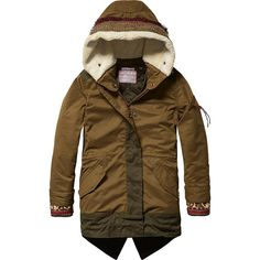 Scotch & Soda R'Belle Mädchen Mantel Parka with Ethnical Inspired Details Girl Fashion Style, Kids Fashion, Fashion Ideas, Little Fashionista, Scotch Soda, Canada Goose Jackets, Mantel, Parka, Raincoat