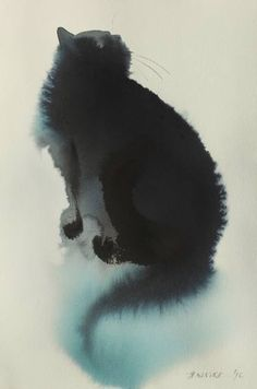 "Saatchi Art Artist Endre Penovác; Painting, ""Blue Cat"" #art"