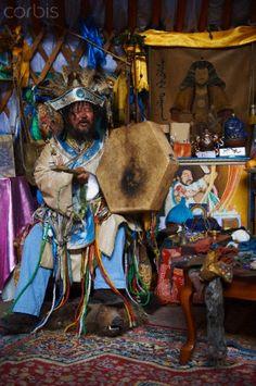 Mongolia, Ulan Bator, shaman ceremony with Zorigtbaatar a famous shaman