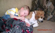 28 Cute Kids Caught Napping With Their Pets!