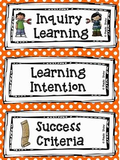 Paula's Place: Learning Intention Freebie