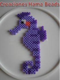 Creaciones Hama Beads: Caballito de mar