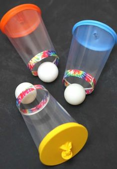 Are you looking for a fun game to play that will keep the kids busy? These Balloon Cup Shooters are awesome! And they will definitely keep the kiddos entertained for a few hours. All you need are plastic cups, balloons, duct tape and ping pong balls. I ma Projects For Kids, Diy For Kids, Kids Fun, Craft Projects, Craft Ideas, Fun Ideas, Fun Games For Kids, Game For Children, Arts And Crafts For Kids For Summer