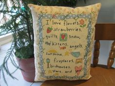 Hand Embroidered/Colored Decorative Love by StitchingTimeBoutiqu