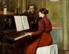 """life-imitates-art-far-more: """"Santiago Rusiñol (1861-1931) """"A Romance"""" (1894) Rusiñol was a Spanish painter, poet, and playwright, and one of the leaders of the Catalan modernisme movement. He influenced Pablo Picasso as a modern artist, and also left..."""