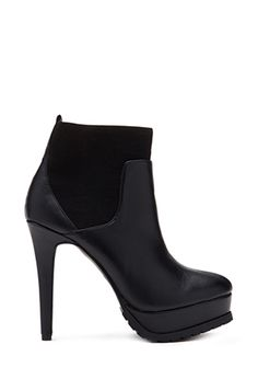 Black Faux Leather Stiletto Ankle Boots Booties | FOREVER21 - 2000057835 $30