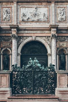 Door to a palazzo in Venice, Italy