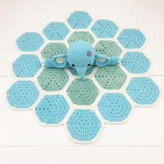 Elephant Lovey Pattern Security Blanket Crochet Elephant