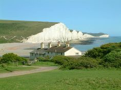 File:Seven Sisters cliffs and the coastguard cottages, from Seaford Head showing…