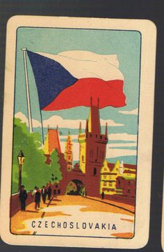 Playing-Swap-Cards-1-VINT-COLES-1ST-SERIES-NMD-FLAGS-CZECHOSLOVAKIA-K8