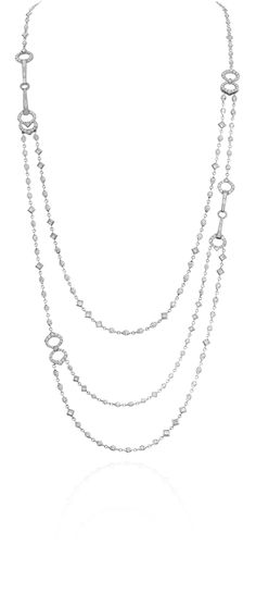 Gumuchian 3-Way Gallop Necklace 18 kt White Gold with Diamonds (Position #1)