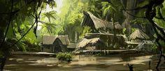Afbeeldingsresultaat voor jungle swamp village