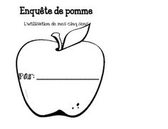 This is a booklet I made for my Grade 1 French Immersion students. In various centers students explore apples using their five sense. They go to a particular center and explore the apple with that sense and then draw a picture that corresponds. Job Chart, Apple Unit, French Immersion, French Class, Grade 1, Apples, Classroom Ideas, Literacy, Kindergarten