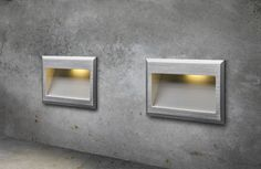 Oblong recessed wall light with an integrated COB LED light source. Wall Lights, Light, Led, Interior, Paneling, Lighting, Red Led, Home Decor