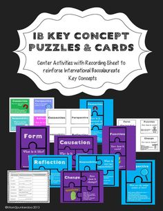 Use these Key Concept Puzzles and Cards as center activities for reinforcing IB Key Concepts in your PYP classroom.