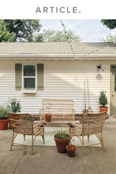 Decor, Outdoor Decor, Home, Natural Sofas, Patio Furniture, Backyard Decor, Patio Decor, Sofa Set, Wicker Sofa
