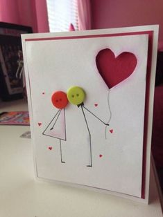 Cute anniversary or valentines day card :) - Happy cards - Valentine Crafts, Valentine Day Cards, Homemade Valentines Day Cards, Valentines Sweets, Love Cards, Diy Cards, Anniversary Cards For Him, Handmade Anniversary Cards, Anniversary Funny