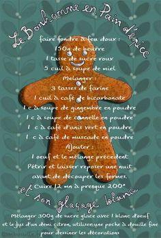 Pain d'épices bonhomme - Gingerbread man - Manele Ginger Bread Cookies Recipe, Cookie Recipes, Cookies For Kids, Christmas Cookies, Christmas Mood, Holiday Fun, Gingerbread Man Cookie Recipe, Candy House, Recipe Scrapbook