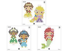 Amazon | アクアビーズ ディズニープリンセスキャラクターセット | エポック社 | おもちゃ Melty Bead Patterns, Peyote Patterns, Beading Patterns, Stitch Patterns, Perler Bead Designs, Diy Perler Beads, Beading For Kids, Cross Stitch For Kids, Water Beads