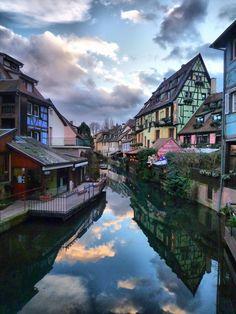Dusk, Colmar, France - #jcrew #myshoestory