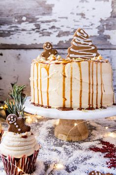Gingerbread Cake with Caramel Cream Cheese Buttercream | halfbakedharvest.com @hbharvest