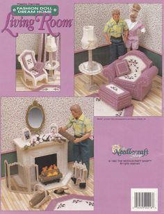 Fashion Doll Dream Home Living Room Plastic by LucyGooseyDolls