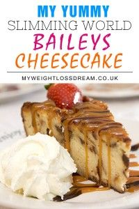 This one is for adults only and anyone who loves the creamy rich taste of Baileys is going to adore this baileys cheesecake recipe which is only 4 Syns per slice!