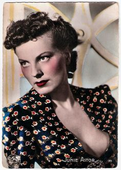 https://flic.kr/p/QpwYxo | Junie Astor | French postcard by Editions O.P., Paris, no. 35. Photo: Star, Paris.  Junie Astor (1911-1967) was a French actress who was highly popular in the late 1930s.  For more postcards, a bio and clips check out our blog European Film Star Postcards Already over 3 million views! Or follow us at Tumblr or Pinterest.