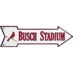 MLB Baseball Arrow Shaped Stadium Sign - St. Louis Cardinals Busch Stadium
