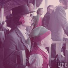 Watching the horse show, Estoril, Portugal.1950. Gordon Parks.