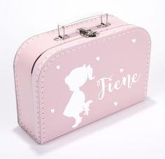 koffertje met naam meisje en hartjes type Fiene