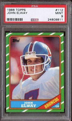1986 topps #112 john elway psa 9 broncos centered 22010 from $29.0